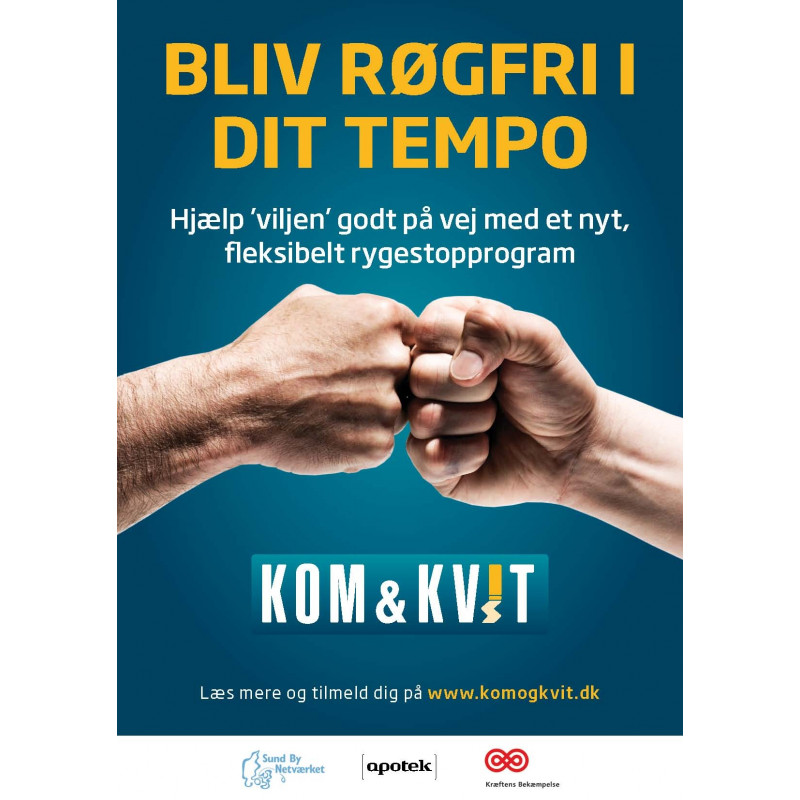 Kom & Kvit A2 plakat