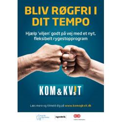 Kom & Kvit- Små plakater A3