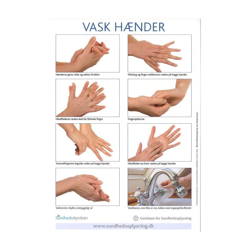Vask hænder - klistermærke