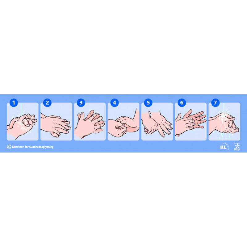 Vask børnehænder (Klistermærke)