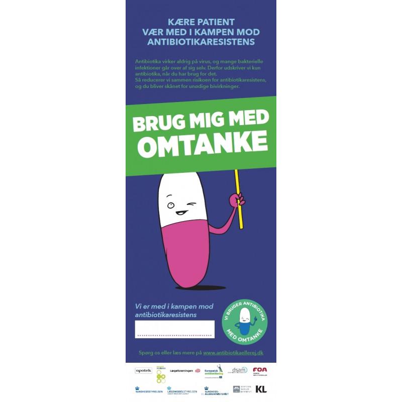 Omtanke - Antibiotika-plakat