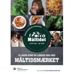 """A2 Plakat –  """"Vi laver sund og lækker mad med Måltidsmærket"""" (til skoler og fritidsordninger)"""